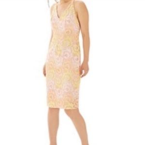 NWT Topshop floral lace sheath dress